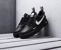 Модные кроссовки Nike Air Force 1 07 LV8 Utility (Кроссовки Найк Аир Форс 1 черные низкие)