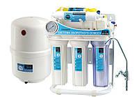 Система обратного осмоса для фильтрации воды CAC-ZO-6G/М без насоса, с манометром и минерализатором