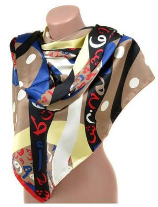 Бесподобный женский шарф 60 на 172 см набивной шелк 10840-Q5