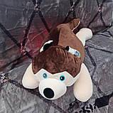 Плед іграшка подушка 3 в1 Хаскі | Іграшка дитячий плед | Іграшки-Подушки | М'яка іграшка Синього кольору, фото 3