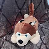 Плед іграшка подушка 3 в1 Хаскі | Іграшка дитячий плед | Іграшки-Подушки | М'яка іграшка Синього кольору, фото 4