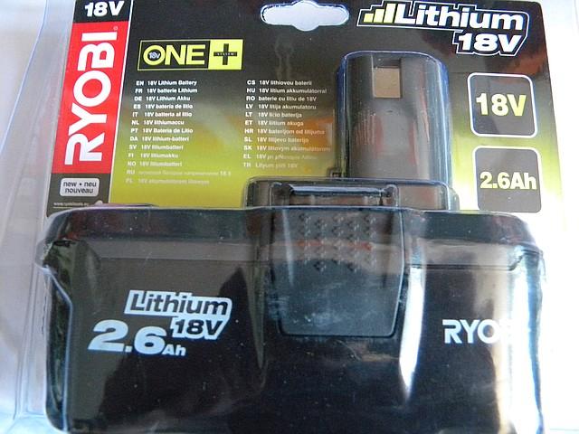 Літій-іонний акумулятор Ryobi RB18L26