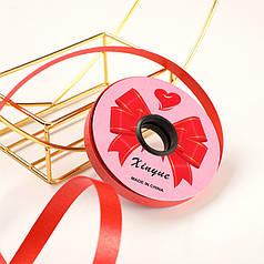 Стрічка декоративна Xinyue Red 1,2 см (25 м) подарункова для квітів