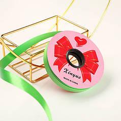 Стрічка декоративна Xinyue Green 1,2 см (25 м) подарункова для квітів