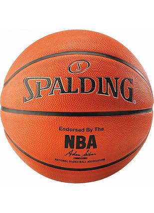 М'яч баскетбольний Spalding NBA Silver Outdoor Size 7, фото 2