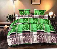 """Полуторные комплекты постельного белья """"Зелёная клетка"""""""
