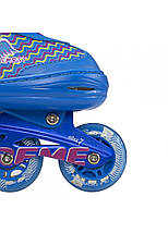 Роликові ковзани Nils Extreme NJ4613A Size 38-41 Blue, фото 2