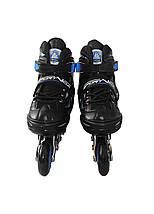 Роликові ковзани SportVida 4 в 1 SV-LG0028 Size 31-34 Black/Blue, фото 3