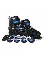 Роликові ковзани SportVida 4 в 1 SV-LG0028 Size 31-34 Black/Blue, фото 2