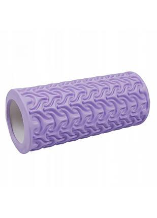 Масажний ролик (валик, роллер) SportVida EVA 33 x 14 см SV-HK0225 Purple, фото 2