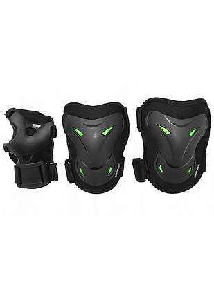 Комплект захисний SportVida SV-KY0004-L Size L Black/Green, фото 2