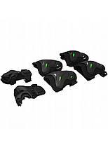 Комплект захисний SportVida SV-KY0004-L Size L Black/Green, фото 3