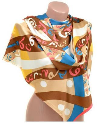 Стильный женский шарф 60 на 172 см набивной шелк 10840-Q6