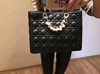 Женская стильная черная сумка Dior Lady