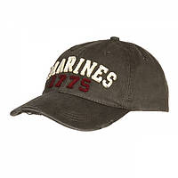 Кепка Baseball Cap Stone Washed Marines 1775 Green