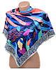 Интересный яркий женский платок из шелка размером 90*90 20492-C2 (цветной)