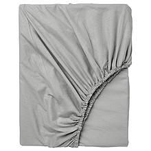 Простынь на резинке Bella Villa сатин 180х200+25 см серая