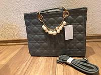 Женская стильная серая сумка Dior Lady