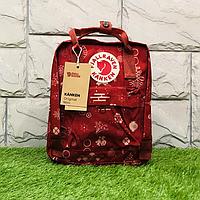 Міський рюкзак шкільний Fjallraven Kanken Art 16л, портфель Канкен, Ранець дитячий Kanken Червоний