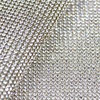 Стразовое полотно горячей фиксации Цвет Crystal (ss8), отрезок 1*24см