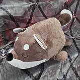 Плед іграшка подушка 3 в1 Вовк   Іграшка дитячий плед   Іграшки-Подушки   М'яка іграшка Коричневого кольору, фото 6