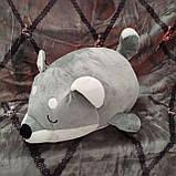 Плед іграшка подушка 3 в1 Вовк   Іграшка дитячий плед   Іграшки-Подушки   М'яка іграшка Коричневого кольору, фото 8