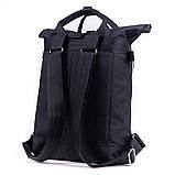 Женский городской стильный рюкзак-сумка, черный, фото 2