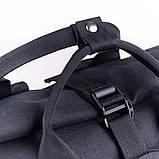Женский городской стильный рюкзак-сумка, черный, фото 4
