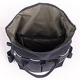 Женский городской стильный рюкзак-сумка, черный, фото 5
