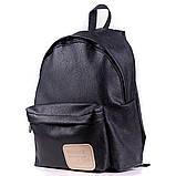 Женский городской модный рюкзак из эко кожи, черный, фото 3