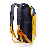 Дитячий міський повсякденний рюкзак MAYERS 10L, унісекс, жовто синій, фото 3