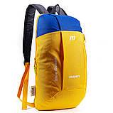 Дитячий міський повсякденний рюкзак MAYERS 10L, унісекс, жовто синій, фото 2