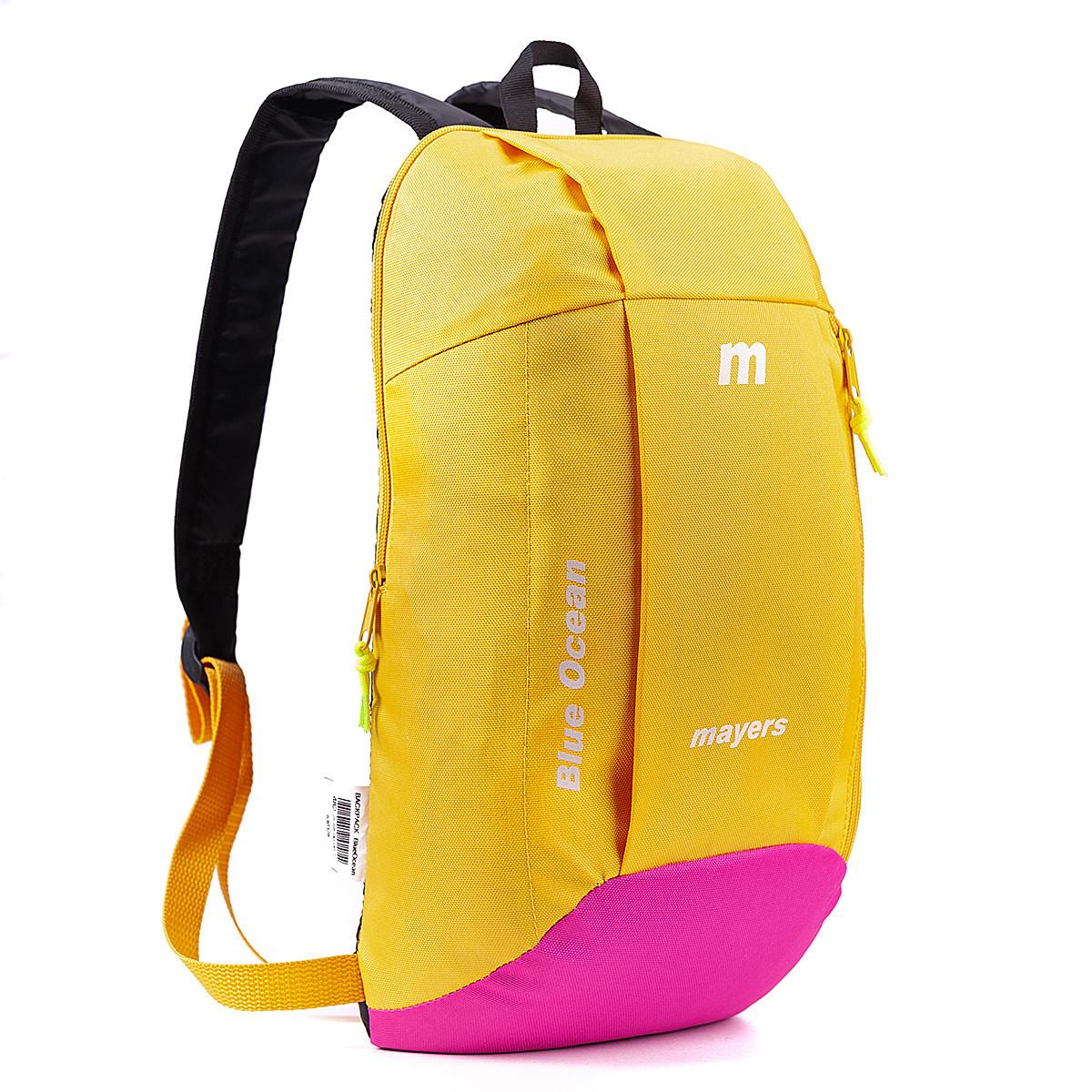 Дитячий рюкзак міський молодіжний унісекс MAYERS 10L, жовто-рожевий