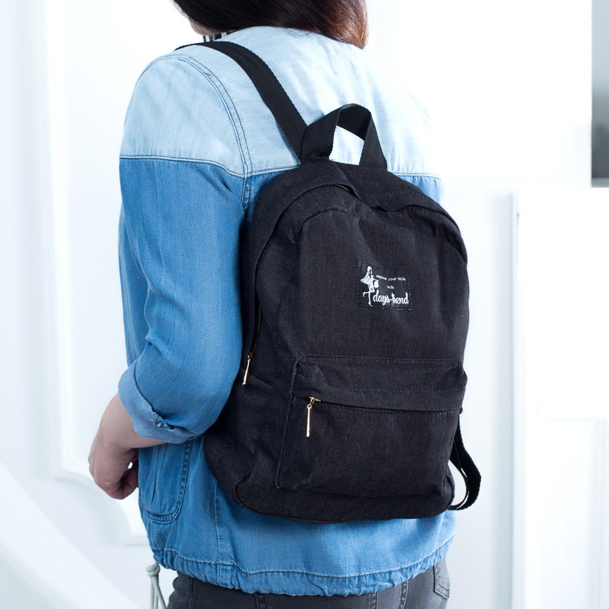 Міський жіночий джинсовий рюкзак Mayers чорний