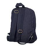 Міський жіночий джинсовий рюкзак Mayers чорний, фото 3