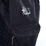 Міський жіночий джинсовий рюкзак Mayers чорний, фото 2
