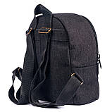 Детский джинсовый рюкзак удобный, черный 5л, фото 3