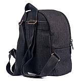 Дитячий джинсовий рюкзак зручний, чорний 5л, фото 3