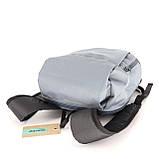 Міський маленький дитячий рюкзак MAYERS, сірий / сіра блискавка, фото 3