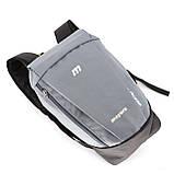 Міський маленький дитячий рюкзак MAYERS, сірий / сіра блискавка, фото 5