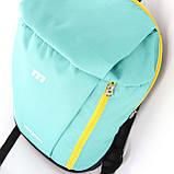 Маленький рюкзак детский повседневного назначения, бирюзовый (желтая молния), фото 4