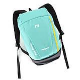 Маленький рюкзак детский повседневного назначения, бирюзовый (желтая молния), фото 3