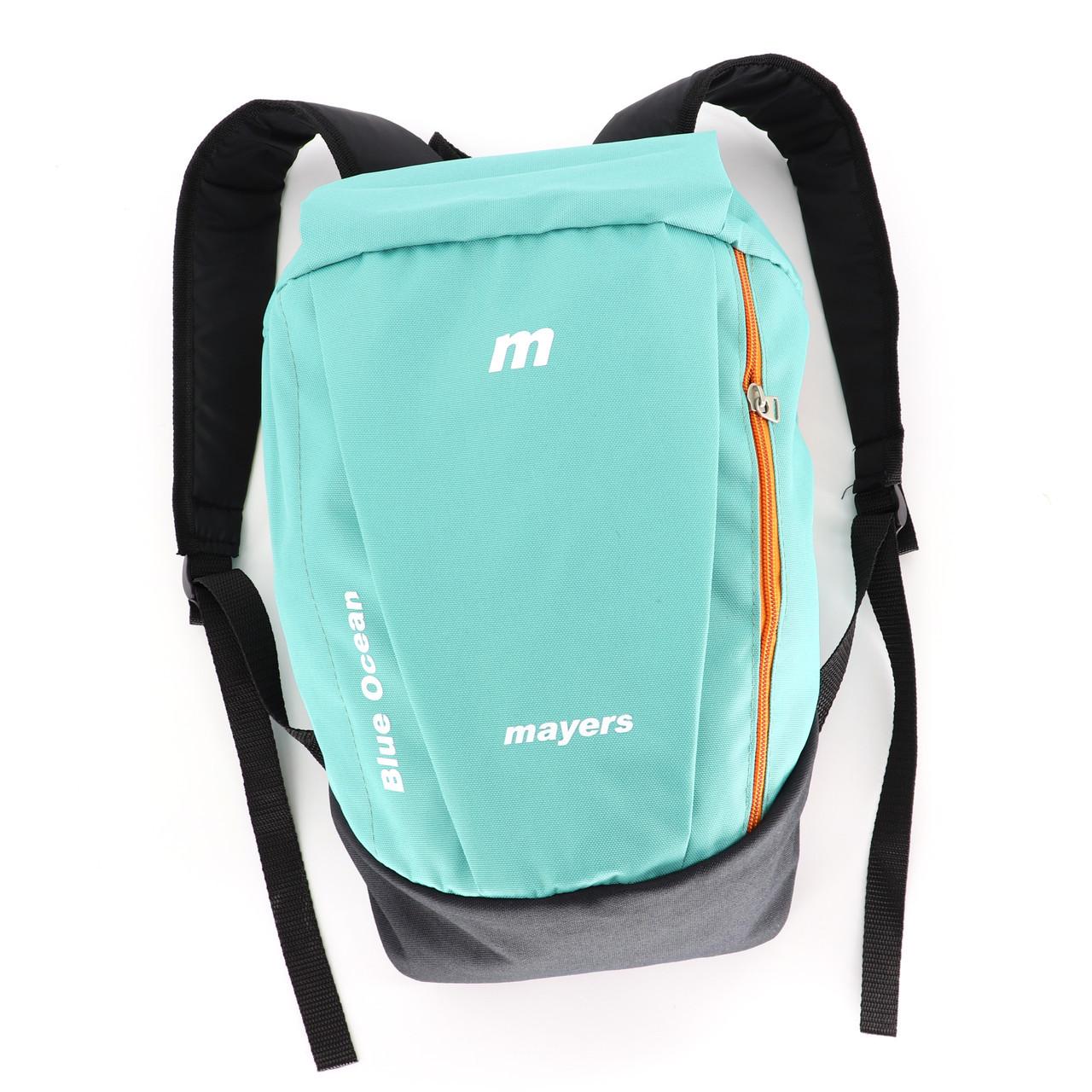 Дитячий маленький повсякденний рюкзак Mayers, бірюзовий / помаранчева блискавка