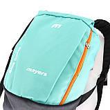 Дитячий маленький повсякденний рюкзак Mayers, бірюзовий / помаранчева блискавка, фото 2