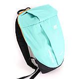 Дитячий маленький повсякденний рюкзак Mayers, бірюзовий / помаранчева блискавка, фото 3