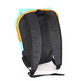 Дитячий маленький повсякденний рюкзак Mayers, бірюзовий / помаранчева блискавка, фото 5