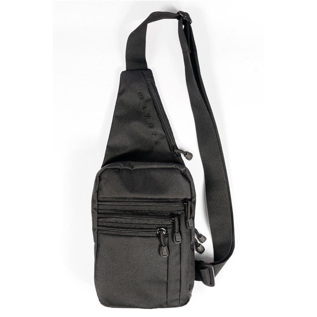 Мужская сумка - слинг с кобурой через плечо, из ткани кордура