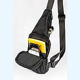 Мужская сумка - слинг с кобурой через плечо, из ткани кордура, фото 3