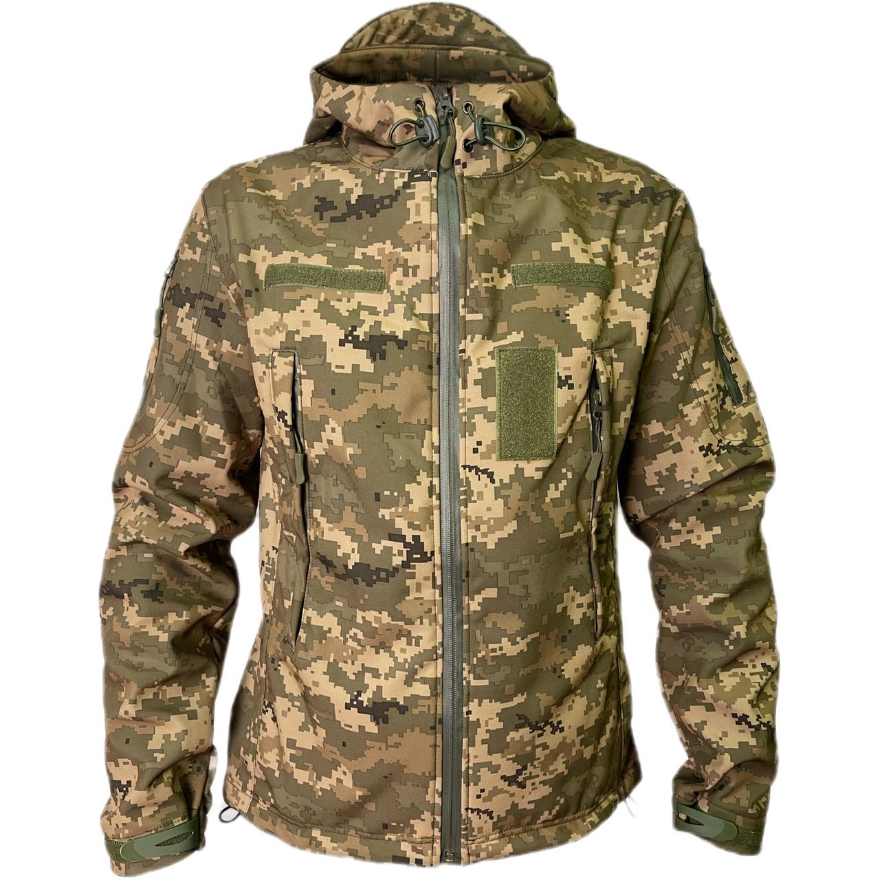 Куртка тактична SoftShell піксель