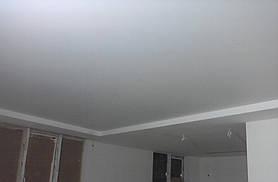 Матовый бесщелевой натяжной потолок